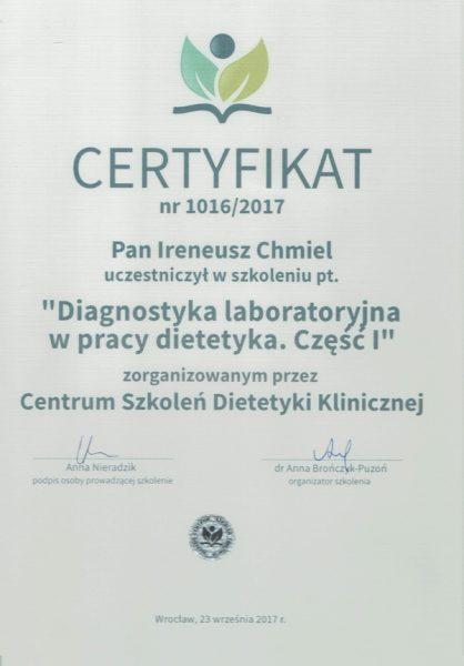 Diagnostyka laboratoryjna w pracy dietetyka. Część I