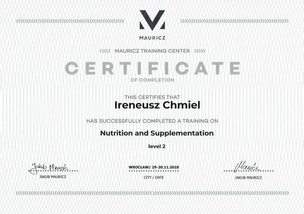 Dietetyka i suplementacja - poziom 2
