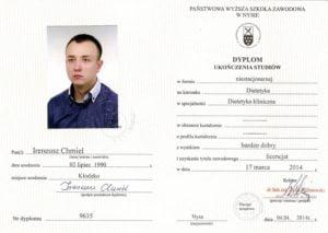 Dyplom ukończenia studiów licencjackich