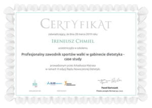 Profesjonalny zawodnik sportów walki w gabinecie dietetyka - case study-1