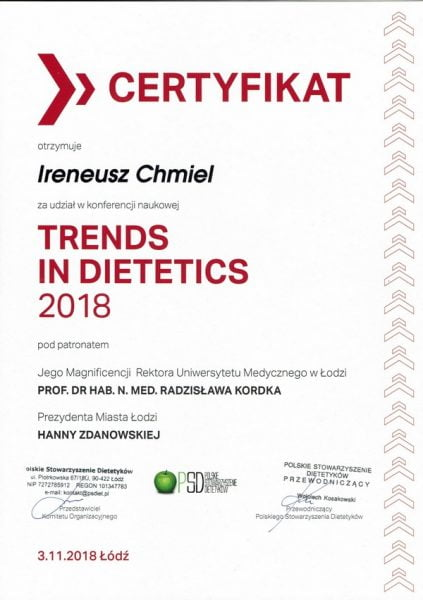 Trends in Dietetics