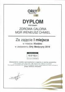 Orły medycyny 2019 dyplom